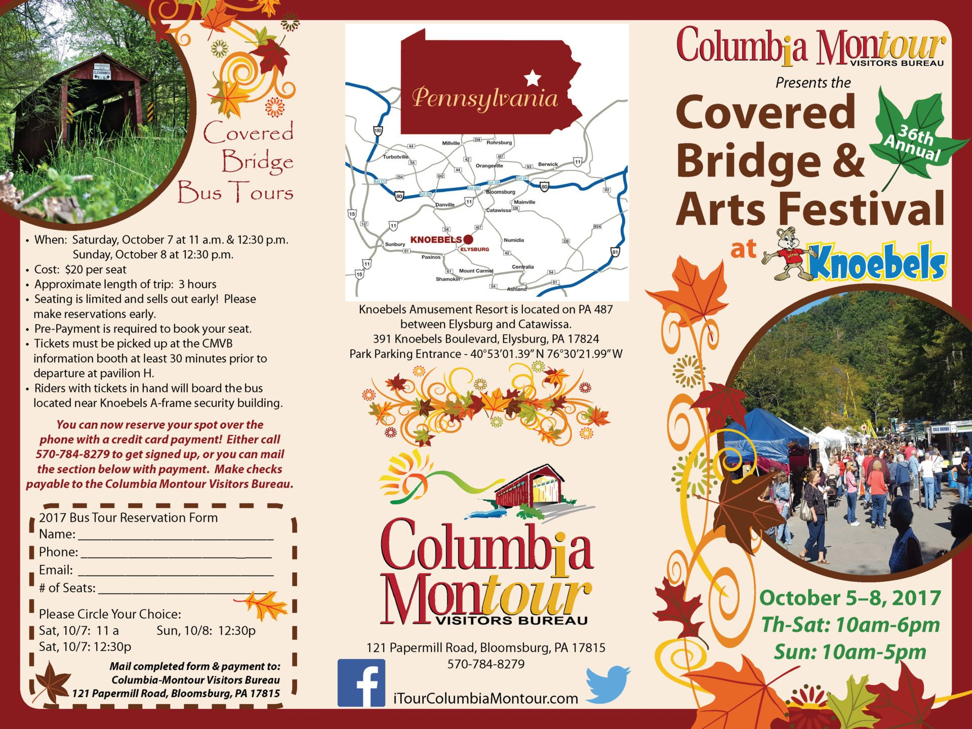 Request a brochure experience columbia montour counties for Columbia craft show 2017