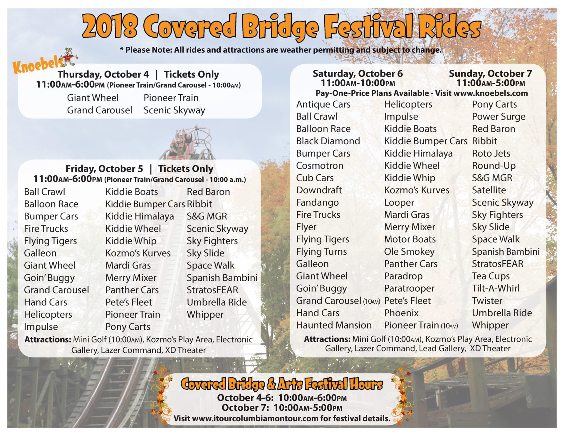 Covered Bridge Festival | Experience Columbia-Montour Counties on six flags over georgia park map 2013, kennywood park map 2013, holiday world park map 2013,